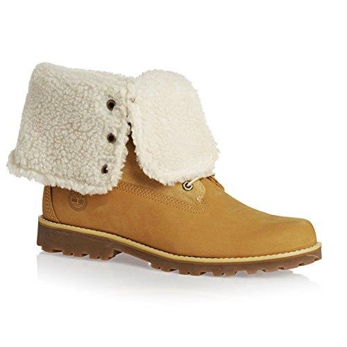 Timberland Unisex-Kinder 6 in Wp Shearling Bo Rollkragen Schuhe Beige(Wheat)