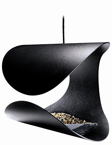 Designer Vogelhaus Futterstation Elegante Art für Ihren Garten dauerhafte schwarz pulverbeschichtetem Stahl modernen dänischen/skandinavisches Design by Morten KRISTOFFERSEN