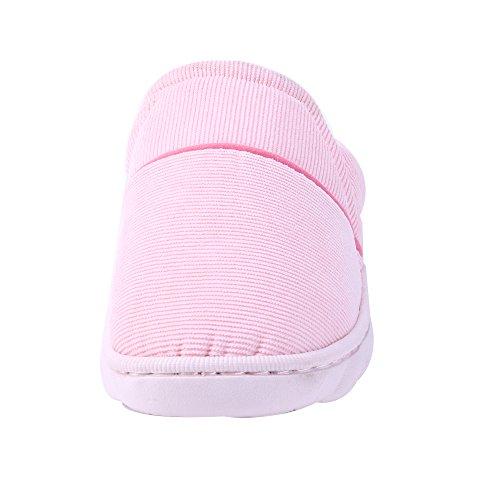 Femmes Mens chausson Pantoufles hiver chaussons confortables printemps chaud chaussons de perméabilité à lair William&KATE Couleur Rose
