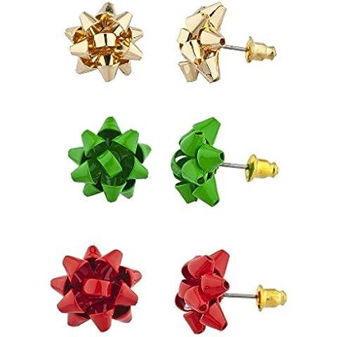 Lux accessori, colore: rosso, verde e oro