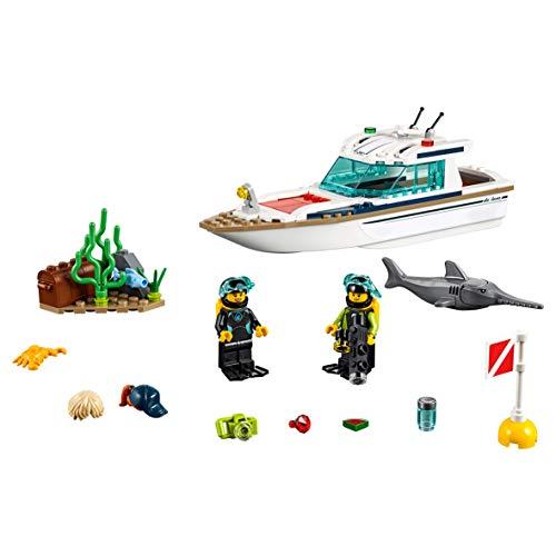 Buceo Great De Juguete Creativo Lego Con Minifiguras Construcción City Submarinistas Animales Vehicles Marinos 60221 Yate Barco Y 8nPk0XwO