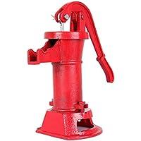 iglobalbuy Brunnen Bomba de mano Bomba de agua alimentación lanzador Hierro Fundido Prensa ventosa Bomba para