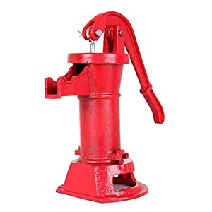 Iglobalbuy Bomba de Mano Bomba de Agua Suministro de Bomba de Agua Lanzador de Hierro Fundido Prensa de succión Bomba de…