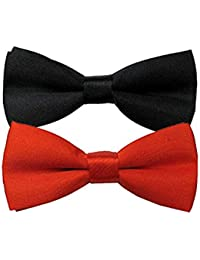 KYLON Black And Red Bowtie For Kids