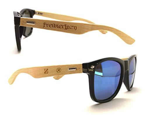 Holzsonnenbrille mit uriger Lasergravur