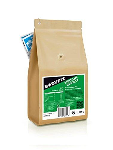 Bodyfit Medium, grüner Kaffee, Extrakt: Aus 100% BIO, Vegan & Fairtrade Rohkaffee, Green coffee bean, hergestellt in der Schweiz, Bio Zertifiziert: DE- ÖKO- 006
