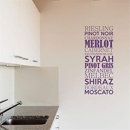 stickers muraux famille francais stickers muraux pour salle de bain Riesling Pinot Noir Chardonnay Merlot Pour Cuisine Salle À Mang