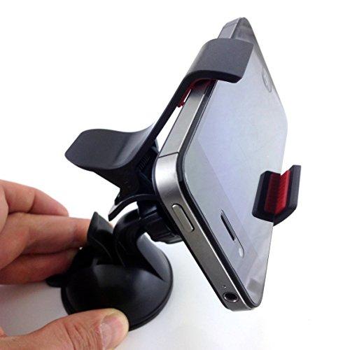 HubLines® - Autohalterung, Smartphonehalterung Handyhalterung Windschutzscheibenhalterung Armaturenbretthalterung Carholder - Handy-, Smartphone-, Auto-, Kfz-, PKW-, Befestigung, Halterung - Kugelarm, 360 Grad drehbar, platzsparend, temperaturbeständig, universell, in 1 Minute auf jeder glatten Oberfläche befestigt