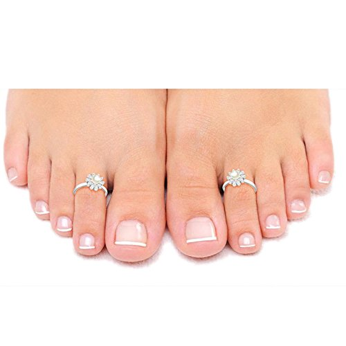 Pcm Pearl Toe Ring Antique .925 Sterling Silver Toe Ring For Women