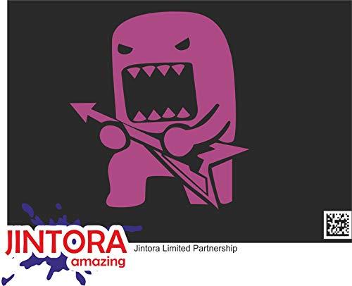 JINTORA Etiqueta para el Coche/Etiqueta engomada - Rock Domo con Guitarra - 108x99 mm - JDM/Die Cut - Coche/Ventana/Laptop/Ventana - Violeta