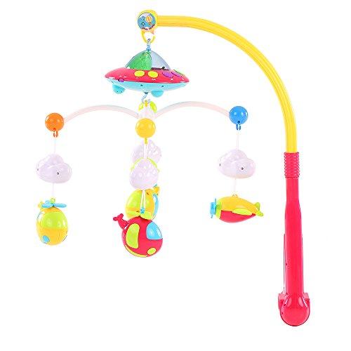 Goolsky Baby Bett Bell Musik Mobile Krippe Dreamful Bett Ring hängend Drehen Klingelrassel Elternteil Fernbedienung Intelligenz pädagogisches Spielzeug