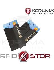 Étui protége des cartes de crédit, débit bloquant les signaux RFID / NFC, protection portefeuille Titulaire (KUK-70BLG 2 Pack)