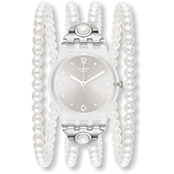 Swatch LK336 25mm White Plastic Band & Case Women's Watch