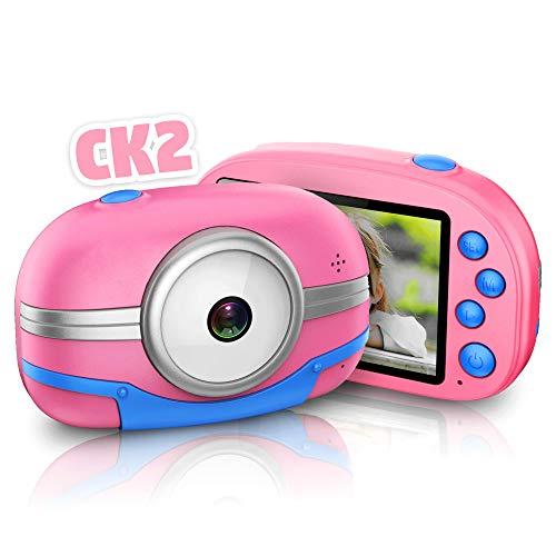 Neueste WiFi Kinderkamera, Richgv 13MP Digitalkamera Videokamera mit 2.8'' HD Touchscreen, Spielzeug und Geschenk für Kinder über 3 Jahre, Rosa