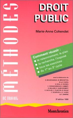 Méthodes de travail en droit public, 3e édition
