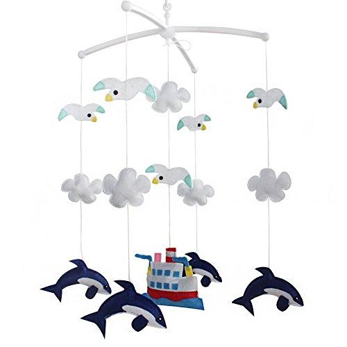 Bett Bell [Dolphin und Seemöwen] Zimmerdekor, Cartoon Design, Crib Mobile