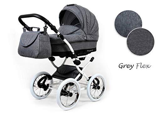 Kinderwagen 3in1 Retro Autositz Buggy Isofix Luftreifen Nostalgica by Saintbaby Grey Flex 2in1 ohne Babyschale