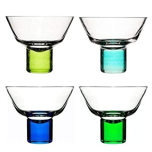Sagaform Set of 4 Martini Glasses - Blue & Green [Kitchen & Home] Purple Martini-gläser