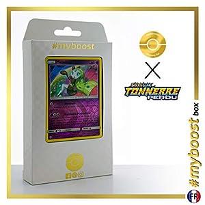 Meloetta 104/214 Holo Reverse - #myboost X Soleil & Lune 8 Tonnerre Perdu - Box de 10 Cartas Pokémon Francés