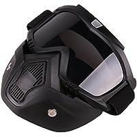 Foxom Máscara Táctica, Máscara Táctica Protectora para Airsoft o Paintball, Máscara Negra De Cara