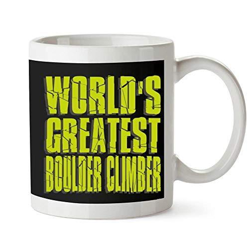 Idakoos World Greatest Boulder Climber Becher Keramik 11 unzen -