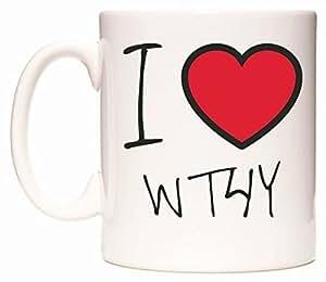 I Love WT4Y Becher von WeDoMugs
