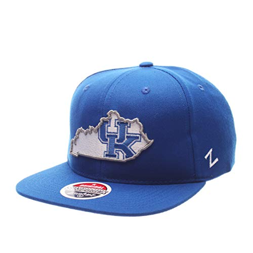ZHATS Z11 Statement 6-Panel Snapback Cap - NCAA Zephyr Flat Bill, One Size Adjustable Baseball Hat, Kentucky Wildcats
