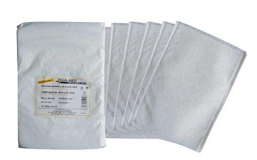 Tiga-Med Disposable Washcloth - Ultrasoft Molton, White, 100 Pieces