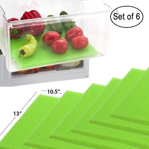 Dualplex Fruit & Veggie Life Extender Kofferraumwanne für Kühlschrank Schubladen (6Pack)-verlängert die Lebensdauer Ihrer erzeugen & verhindert Verderb, 33x 26,7cm Life Extender