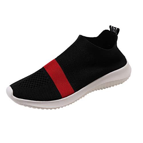 Toasye Ausverkauf Damen Outdoor Trainer Laufschuhe Socken Sportschuhe Atmungsaktiv Lässige Mesh Turnschuhe (40 EU, Rot-0521)