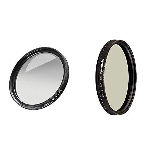 Walimex Pro Polfilter zirkular Slim 49mm & AmazonBasics Zirkularer Polarisationsfilter - 67mm
