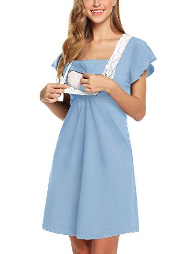 Camicie da notte premaman allattamento cotone estivo