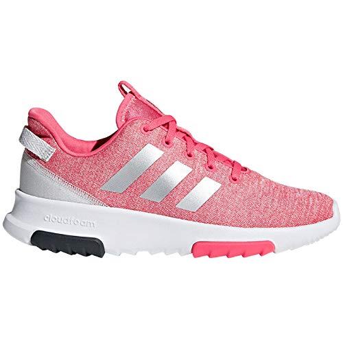 adidas Unisex-Kinder NEO Cloudfoam Racer Trail K Traillaufschuhe, Pink (Reapnk/Silvmt/Ftwwht 000), 38 2/3 EU