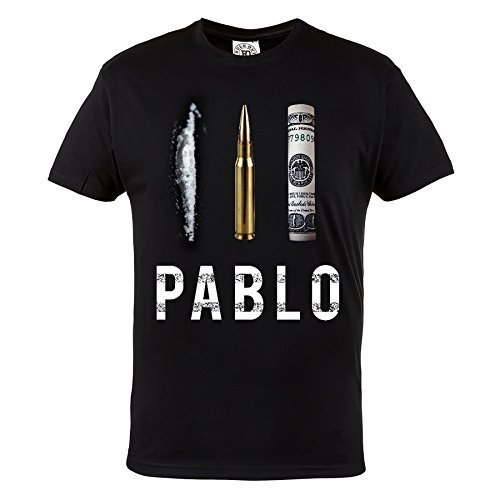 MAFIA Hardcore Wear maglietta Pablo escobar. EL da pattuglia del mal. Rule OUT. Hooligan Abbigliamento Casual Black