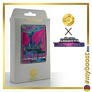 Xerneas-GX 126/131 Full Art - #myboost X Sonne & Mond 6 Grauen Der Lichtfinsternis - Box de 10 Cartas Pokémon Aleman