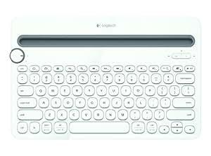 Logitech K480 Clavier Bluetooth Multi-Device sans fil pour PC, Smartphone et Tablette (AZERTY) Blanc
