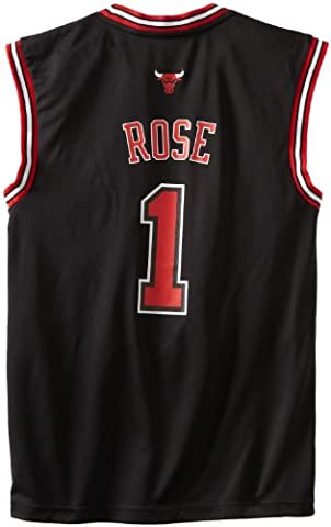 Adidas Revolution 30Jersey NBA Chicago Bulls Derrick Rose Alternate Jersey en noir - noir - L