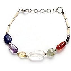 Odishabazaar Fengshui Seven Chakra Healing Gemstone Bracelet Spiritual Gift