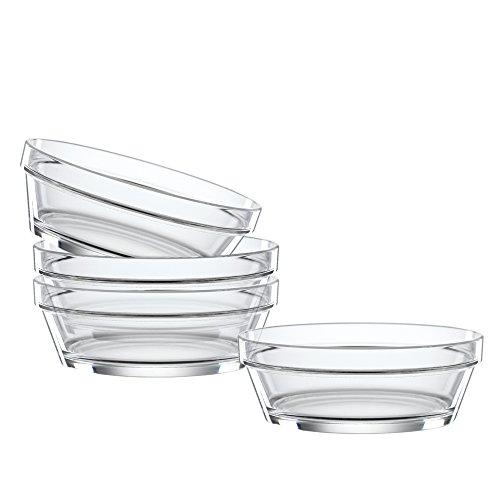 Spiegelau & Nachtmann 4-teiliges Schalen-Set, 13,5 cm, Kristallglas, Bistro, - Bistro Schalen