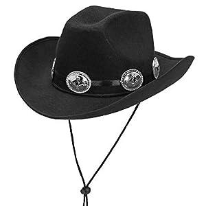 WIDMANN Srl Gorro Cowboy de fieltro Negro Talla única para adulto, y solideos polos, wdm68572