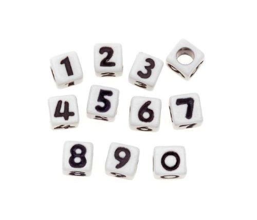 Alpha Alphabet Bead (Darice Alpha Beads, 6 mm, 80 Stück)
