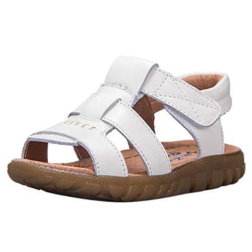 Alwayswin Baby Mädchen Jungen Kleinkindschuhe Open Toe Flache Klettverschluss Sandalen Leder Weiche Strand Schuhe Sandalen Mode Freizeit rutschfest Kinderschuhe Sport Sandalen