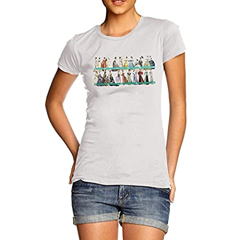 Women Cute Novelty Design 19th Century Fashion T-Shirt White