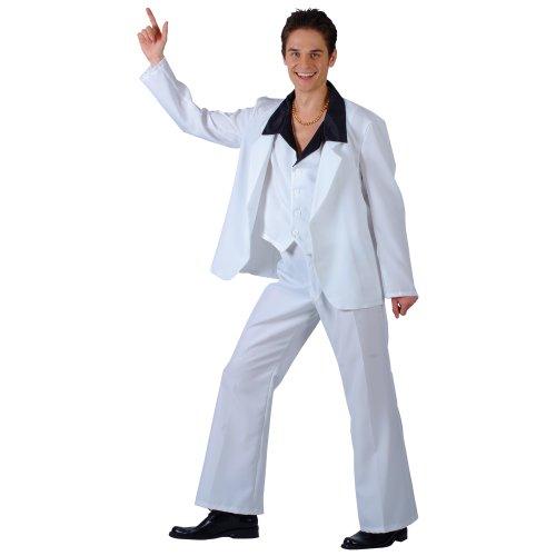 Disco Kostüme Dress Fancy Fever (70s Disco Fever Kostüm. Medium 104cm Brust. Hose, Jacke, waiscoat mit Hemd)