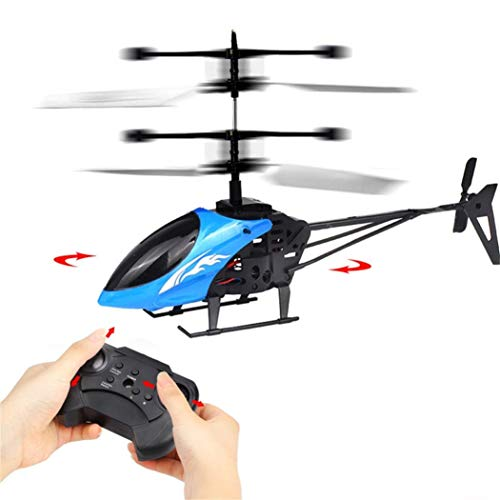 Preventively RC Helicopter, Mini RC Infrared Induction Remote Control RC Toy 2 CH Gyro Helicopter RC Drone, Blue