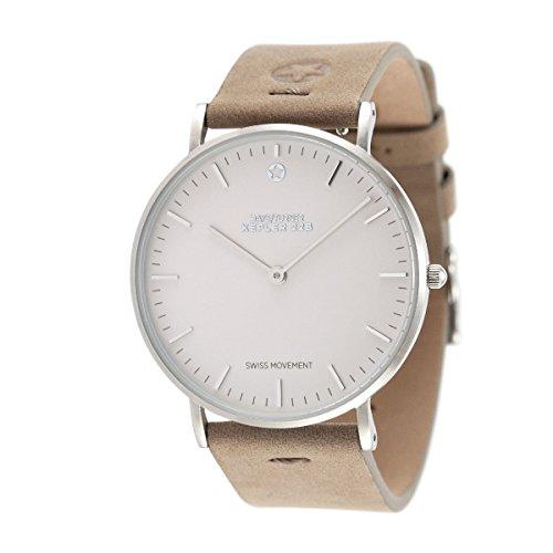 Daye/Turner Damen Uhr Analog Schweizer Uhrwerk mit Leder Armband DT-91SM18SL-36LB