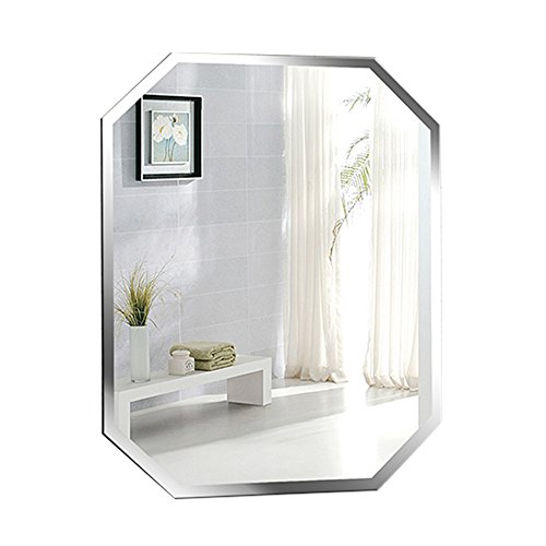 Bathroom mirror Wall-mounted frameless vanity mirror Octagon art Hotel Basin 45 * 60cm