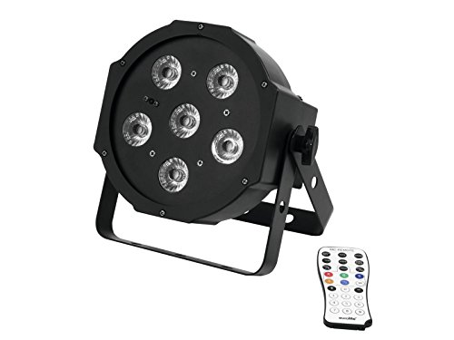 showking - Schwarzlicht LED Spot, 100-240V / 20W, Standfuß, DMX - UV Spot für Partykeller, Bühne, Theater (Blacklight Panel)