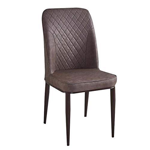 PLXTOO Esszimmerstuhl moderner minimalistischer Lounge-Sessel Nordic Dining Chair Bankettstuhl Verhandlungsstuhl Restaurantstuhl Hotelstuhl 2019NEW (Color : Brown) -