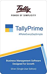 TallyPrime Silver - one software for all your business needs - Accounting, GST, Invoice, Inventory, MIS & more (No CD. E-mail delivery in 2 hours)